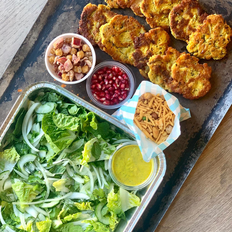 Oven Ready: Crispy Courgette & Red Lentil Indian Fritters (for 2)