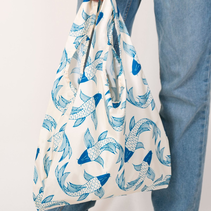 KIND BAG - 100% RECYCLED REUSABLE BAG - Koi Fish