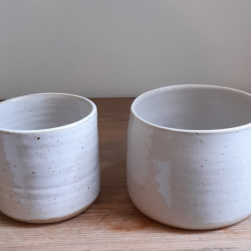Danika Vautour handmade ceramic pots - only small size left