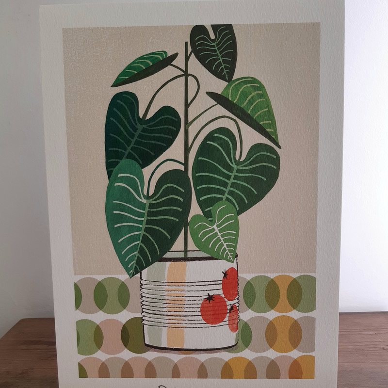 Lou Mills A4 size Philodendron print