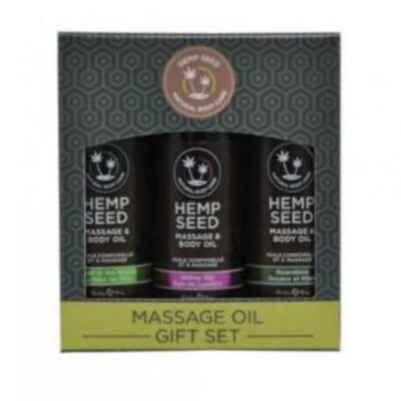 Massage Oil Gift Set - Hemp Seed Oil
