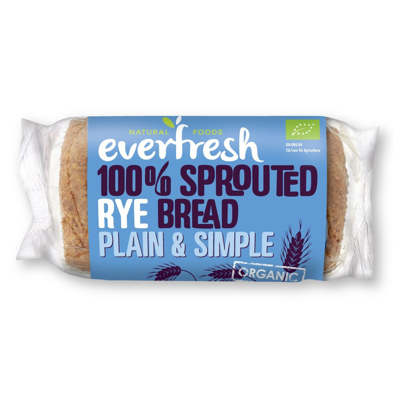 Everfresh 100% Sprouted Rye Bread Plain & Simple