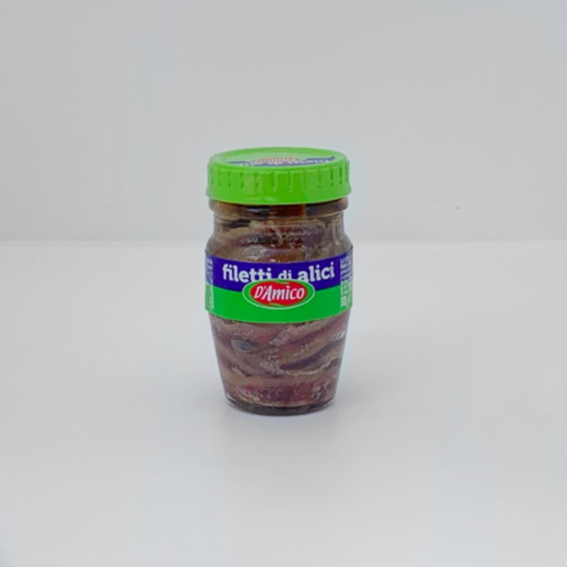Anchovies by D'Amico 80g (glass)