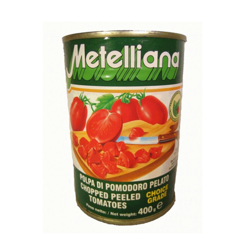 Chopped Peeled Tomatoes by Metelliana 400g (tin)