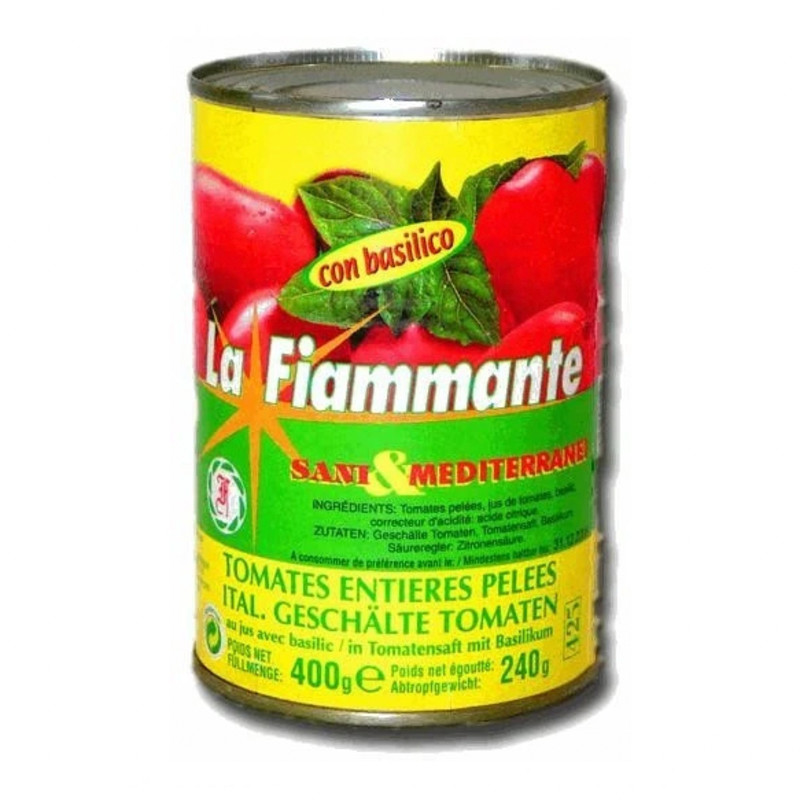 Peeled Tomatoes with Basil by La Fiammante 400g