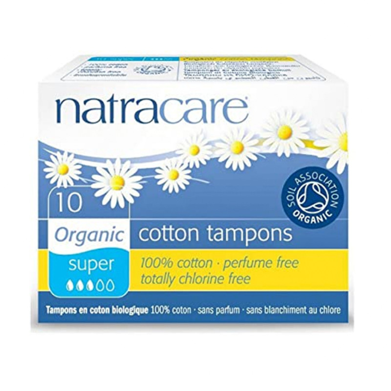 Natracare Organic Super Tampons 10 Pack