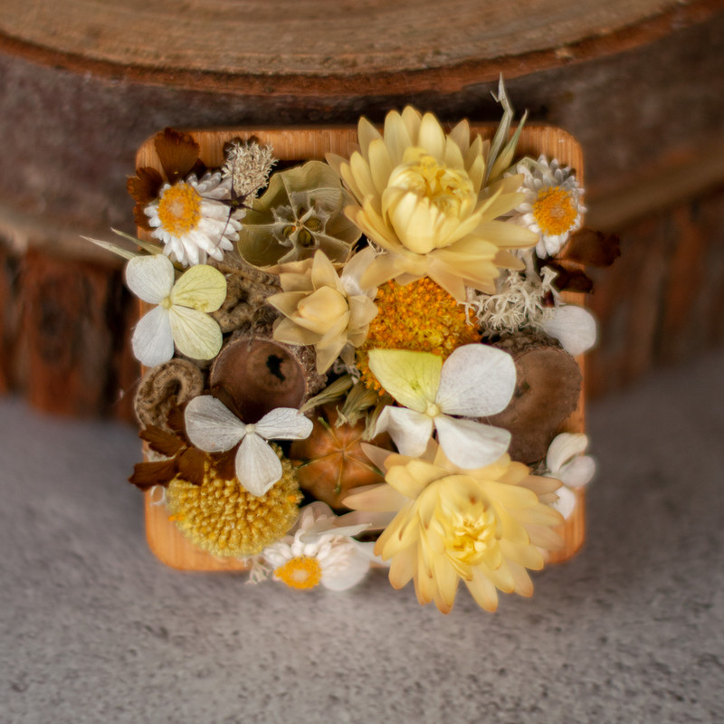 Textured flower tray square